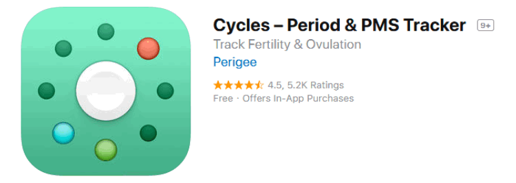 The Cycles Period Tracker and Fertility Tracker