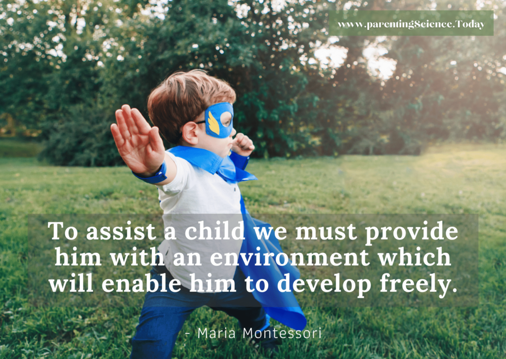 To assist a child we must provide him with an environment which will enable him to develop freely.